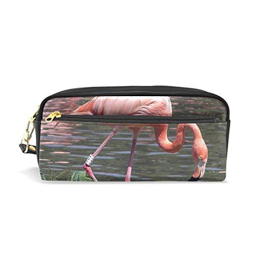 - Pencil Case Flamingo Cute School Pen Pouch Office Zippered Makeup Bag Holder