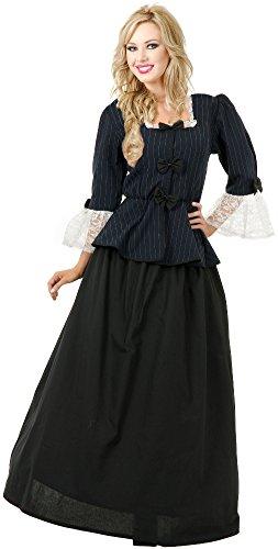 Charades Women's Martha Washington Colonial Woman Costume Dress,