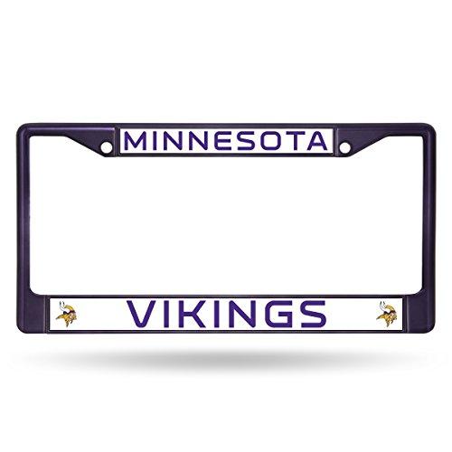 - Rico Industries NFL Minnesota Vikings Colored Chrome Plate Frame, Purple