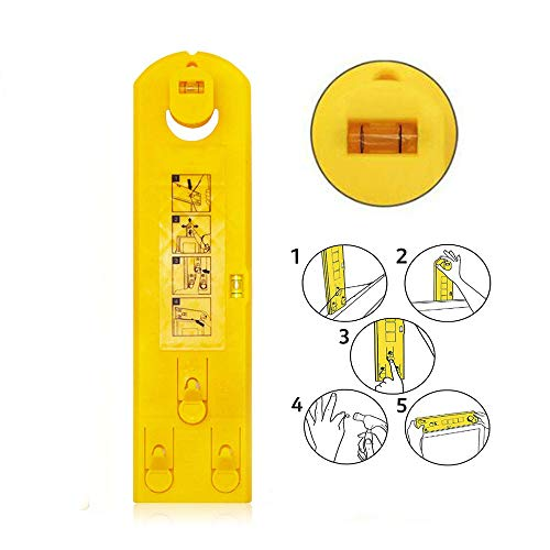 1pc Picture Hanger Hanging Tool, Multifunction Level Ruler Bubble Level Measuring Tool Picture Frame Hanger DIY Hand Tool for Marking Position and Measuring The Suspension