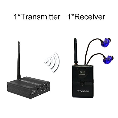 TP-WIRELESS 2.4GHz Professional In-ear Digital Wireless Stage audio Monitor System(1 Transmitter and 1 Receiver)