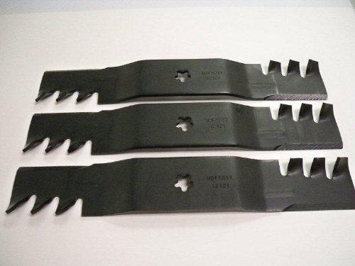 Replacement Mulching (Set of 3, Made In USA Heavy Duty Replacement Mulching Blades For Craftsman, Poulan, Husqvarna Blade Numbers 187255, 187256, or 187254)