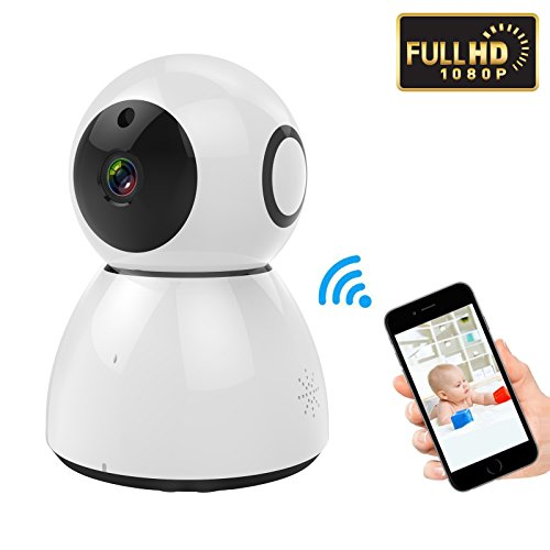LeHome 1080P Home IP Camera 2MP HD Pan/Tilt/Zoom 2.4GHz WiFi Camera Baby Monitor Motion / Sound Detection Wireless iP Security Surveillance System with Night Vision for Baby / Elder / Pet