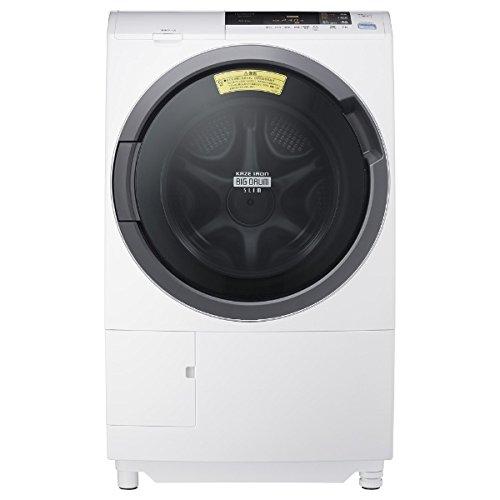 日立 [左開き] ドラム式洗濯乾燥機 (洗濯10.0kg/乾燥6.0kg) BD-S3800L-W ピュアホワイト 【ヒーター乾燥機能付】