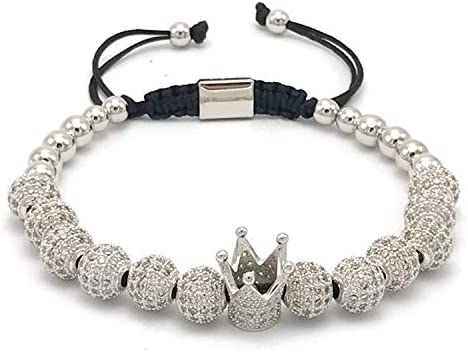 Armband Armreif,Schmuck Geschenk, Jewelry Crown Charms Bracelet Couple Bracelets for Men Women Pulseira Masculina Pulseira Feminina Bileklik