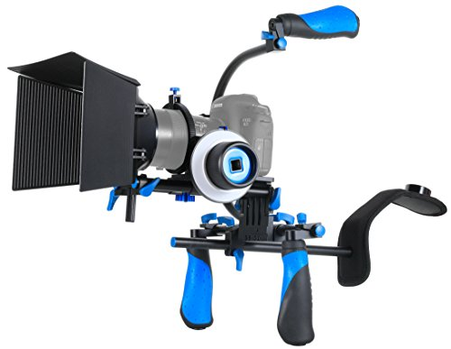 Morros DSLR Rig Movie Kit Shoulder Mount Rig with Follow Focus and Matte Box and Top Handle for All DSLR Cameras and Video Camcorders