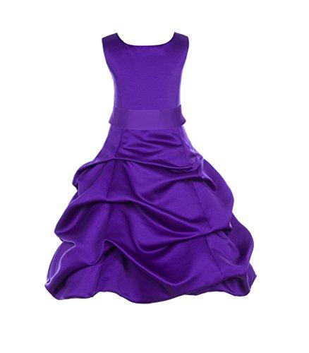 ekidsbridal Cadbury Regency Satin Pick-Up Bubble Flower Girl Junior Dress 806S 12