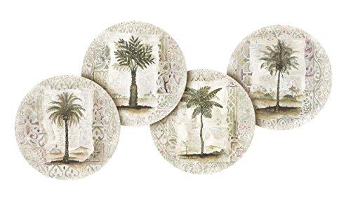- Thirstystone Stoneware Coaster Set, Ferns and Palms A/4