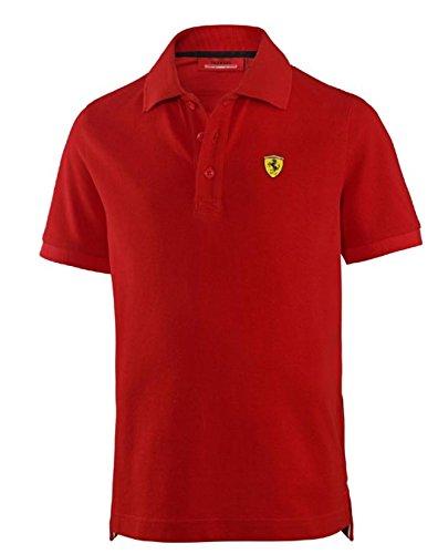 Ferrari Kids Red Shield Polo Shirt - Polo Store Kids