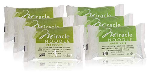 Miracle Noodle Shirataki Fettuccini & Angel Hair Variety Pack, Gluten-Free, Zero Carb, Keto, Vegan, Soy Free, Paleo, Blood Sugar Friendly, 7oz (Pack of 6) (Best Cut Of Beef For Stir Fry)