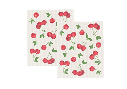 Now Designs Swedish Dishcloth, Set of Two, Cherries