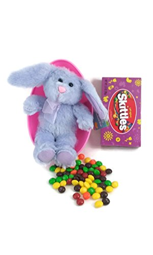 Plush Purple Bunny and Jumbo Easter Egg with Candy Bundle