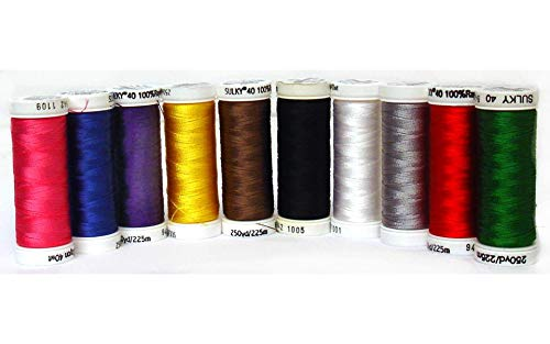 (Sulky Of America Top 10 Rayon Thread Set, 250 yd, Assorted)