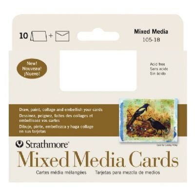 6 Pack Mixed Media Announcement Size Cards (Product Catalog: Paper Media, Canvas & Surfaces) by Strathmore (Image #1)