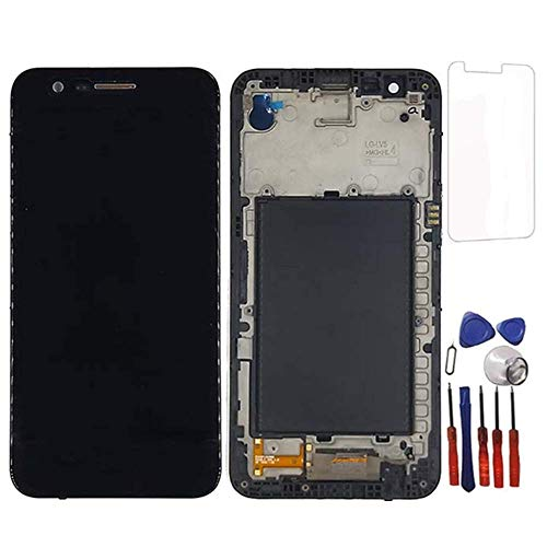 Glass LCD Display Touch Screen Digitizer Assembly Replacement Part + Frame for LG K20 Plus K10 2017 m250 Screen Replacement - Screen Lcd Replacement Lg