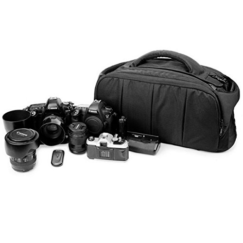 Large Digital SLR Camera Bag and Camcorder Bag, Video Camera Case Tote Bag (Balck)