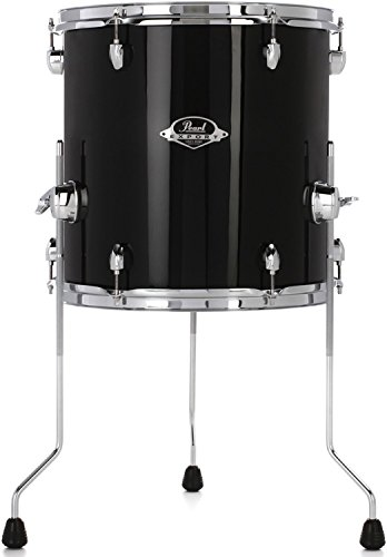 Pearl Export EXX Floor Tom - 14 Inches X 14 Inches, Jet Black by Pearl