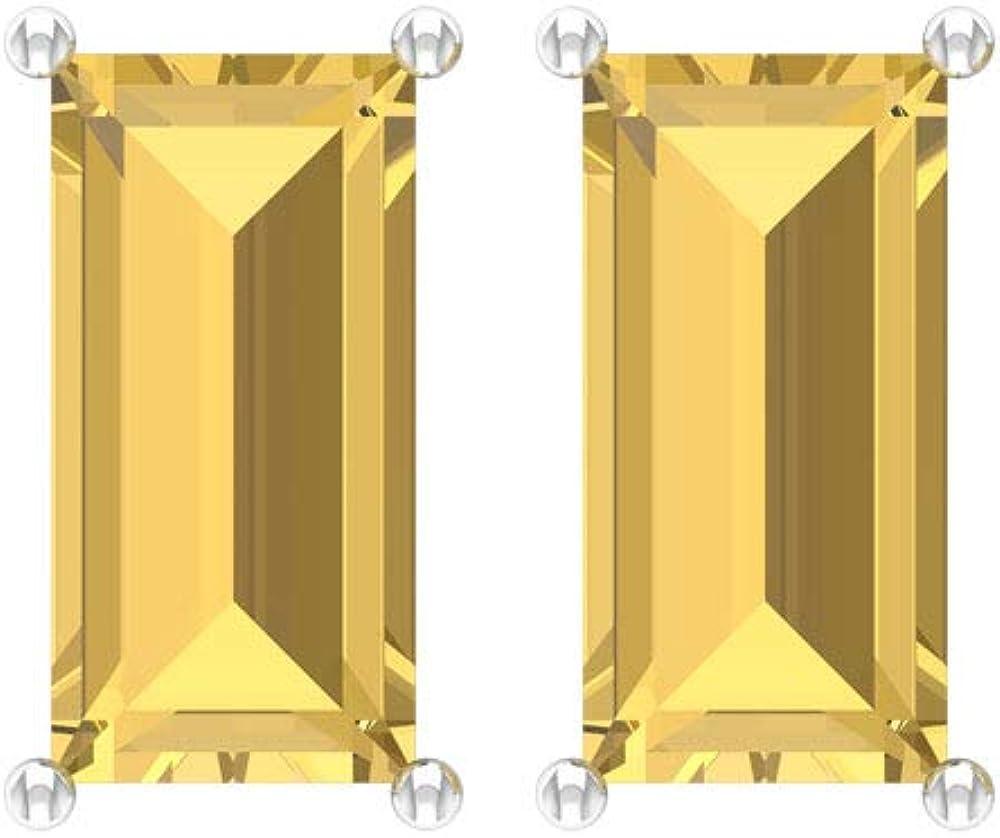 Pendientes de citrino con certificado SGL de 2.16 quilates, con piedras preciosas amarillas, estilo vintage, para novias, novias, novias, novias, novias, novias, tornillo hacia atrás