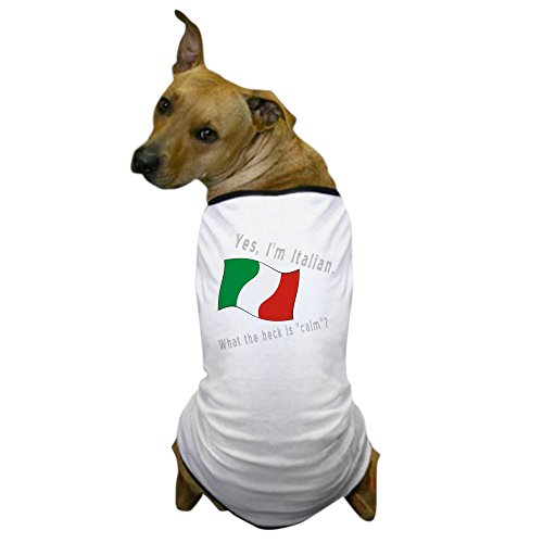 CafePress - Italian Calm Gey Letters Dog T-Shirt - Dog T-Shirt, Pet Clothing, Funny Dog Costume -