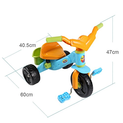 Virhuck Kids First Ride Trikes for Kids Toddlers Children Tricycle 3 Wheel Pedal Bike for 1 2 3 4 Years Old Kids Boys Girls, Multi-Coloured, Maximum Weight 30 KG by Virhuck (Image #5)