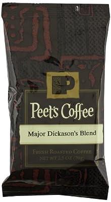 Peet's Coffee Major Dickason's Blend Ground Coffee, 2.5 Ounce (Pack of 18) by Peet's Coffee