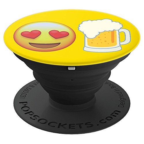 Emojicon Heart Love Beer Stein Glass Phone Holder Grip - PopSockets Grip and Stand for Phones and Tablets -