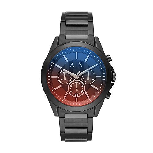 Armani Exchange Men's 'Chronograph' Quartz Stainless Steel Casual Watch, Color:Black (Model: AX2615)