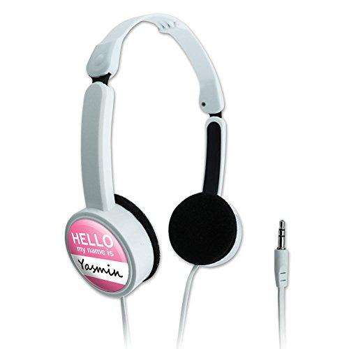 novelty-travel-portable-on-ear-foldable-headphones-hello-my-name-is-ya-yv-yasmin-hello-my-name-is