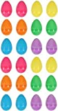 24 Colourful Fillable Plastic Surprise Easter Eggs - Fill With Easter Hunt Gifts And Chocolate