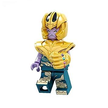 スーパーヒーローズ サノス ヘルメット インフィニティ ガントレット ストーン付き フィギュア モデル ビルディング ブロック キッズ ギフト おもちゃ