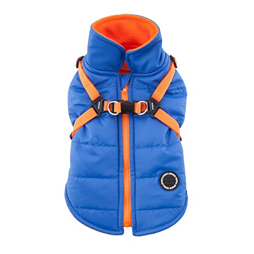 Puppia PAPD-VT1366-RB-L Authentic Mountaineer II Winter Vest, Large, Royal Blue by Puppia