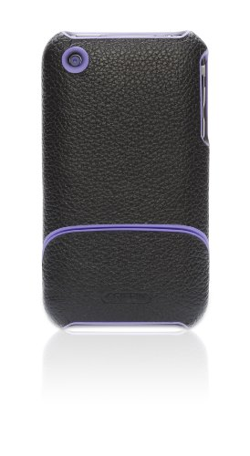 Griffin Elan form for iPhone 3G, 3G S(Black, Purple Trim)