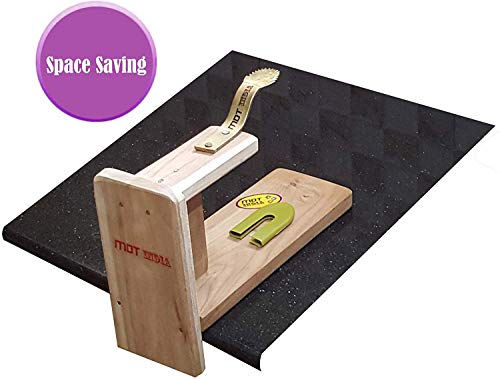 MDT India Table Top Teak Wooden Coconut Scraper Grater Shredder Movable Chirava Place Anywhere 7