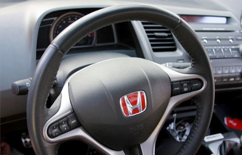 red honda  steering wheel badge emblem  honda accord