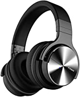 COWIN E7 PRO [2018 Upgraded] Active Noise Cancelling Headphone Bluetooth Headphones with Microphone Hi-Fi Deep Bass Wireless Headphones Over Ear 30H Playtime for Travel Work TV Computer Phone - Black