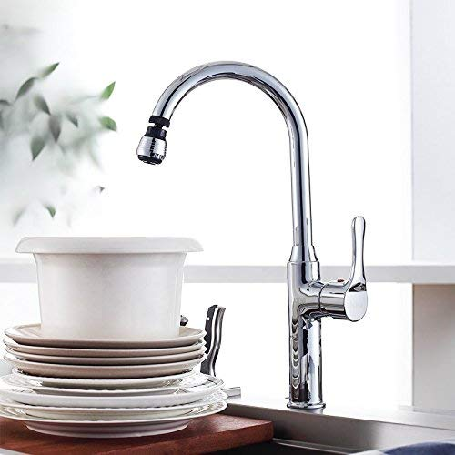 FAUCETS HOME Hot and Cold Copper Kitchen Faucet, Heightening Single Handle Single Hole Sink Sink Double Sink Faucet