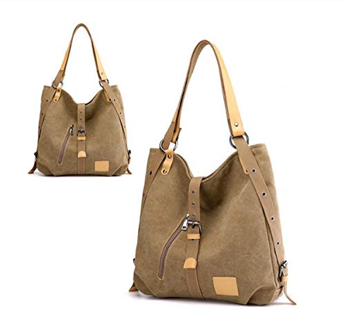 4 3 7 13 Ms LXopr Shoulder Bags Khaki 7 inch bag backpack canvas Crossbody 13 wzqUvA