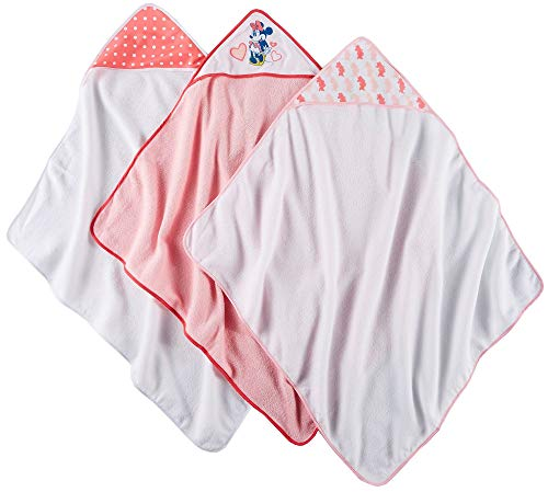 Disney Minnie Mouse 3Piece Rolled Infant Hooded Towel, Hearts Print (Disney Minnie Mouse Hooded Towel)