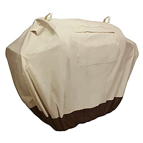 KHOMO GEAR, SAHARA Series, Waterproof Heavy Duty BBQ Grill Cover, Large 64 x 24 x 48, Compatible with Weber (Genesis), Holland, Jenn Air, Brinkmann, Char Broil, Kenmore & (Char Broil Leg)