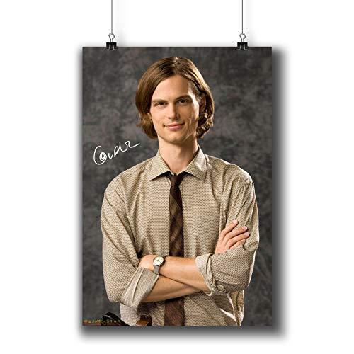 Pentagonwork Criminal Minds TV Photo Poster Prints 271-020 Dr.Spencer Reid Matthew Gray Gubler Reprint Signed Casts,Wall Art Decor Gift (A3|11x17inch|29x42cm) (Gray Reid)