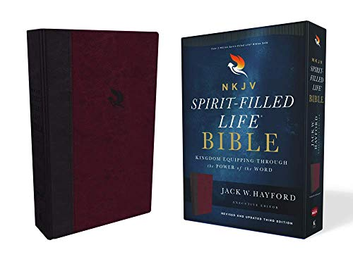NKJV, Spirit-Filled Life Bible, Third Edition, Leathersoft, Burgundy, Red Letter Edition, Comfort Print: Kingdom Equipping Through the Power of the Word