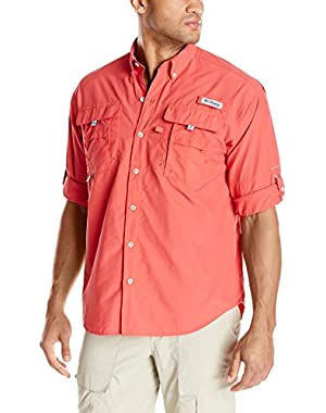 Sportswear Men's Bahama II Long Sleeve Shirt, Sunset Red, 4X Tall