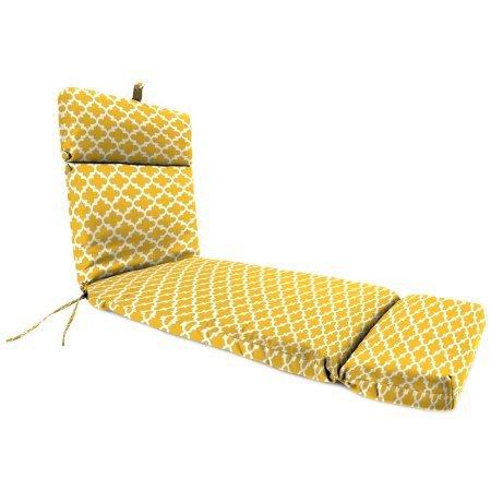 Jordan Manufacturing Outdoor French Edge Chaise Lounge Cushion, Fulton Citrus Yellow