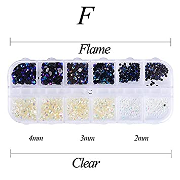 Amazon.com  12 Color Box 3Mm Crystal Colorful Jelly Rhinestones 3D Nail Art  Decor Glitter Gems Stones Manicure F  Beauty e1e8c8e09e4a