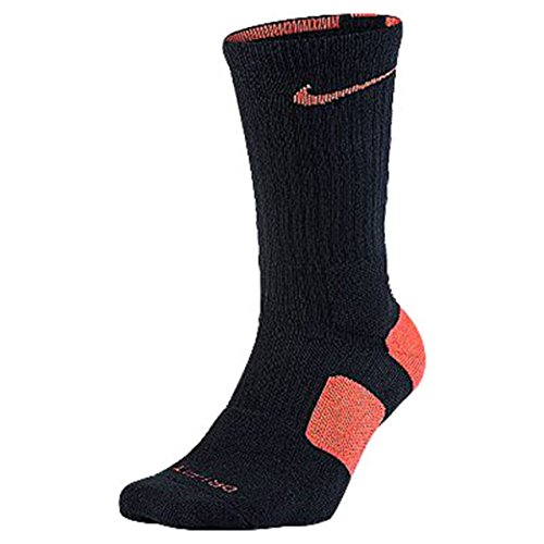 Nike Elite Crew Basketball Socks Black/Orange - Orange Nike Black Socks