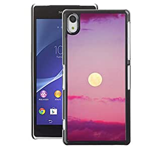 A-type Arte & diseño plástico duro Fundas Cover Cubre Hard Case Cover para Sony Xperia Z2 (Purple Sunset Clouds Nature Sky Summer)