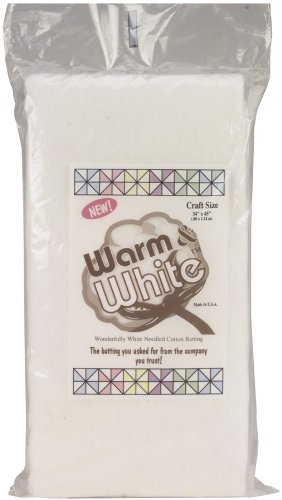 Warm Company Warm and White Cotton Batting-Craft Size 34-InchX45-Inch Notions - In Network 2410