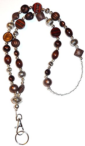 Chunky Brown Fashion Women's Beaded Lanyard 34