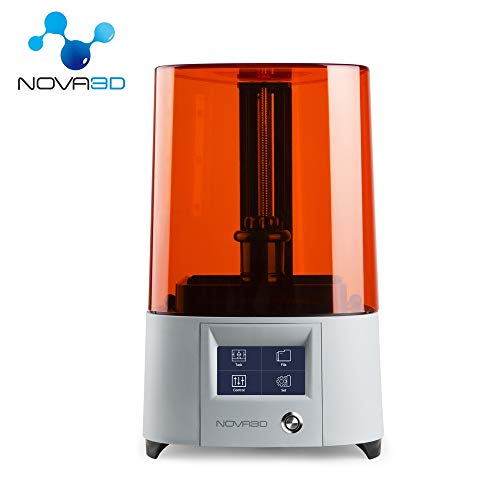 "NOVA3D Elfin UV LCD 3D Resin Printer Off-line Print 5.2""x 2.91""x 5.9"",8GB and WiFi, Permanent Leveling Design and 4.3"" Touch Screen"