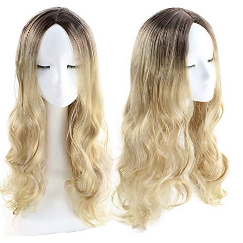 Wig High Temperature Silk Staining Gradient In Long Curly Hair -